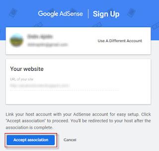 mengaitkan blog ke akun adsense