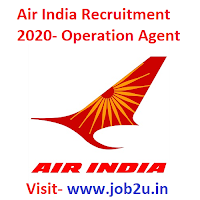Air India Limited Recruitment 2020, Operation Agent