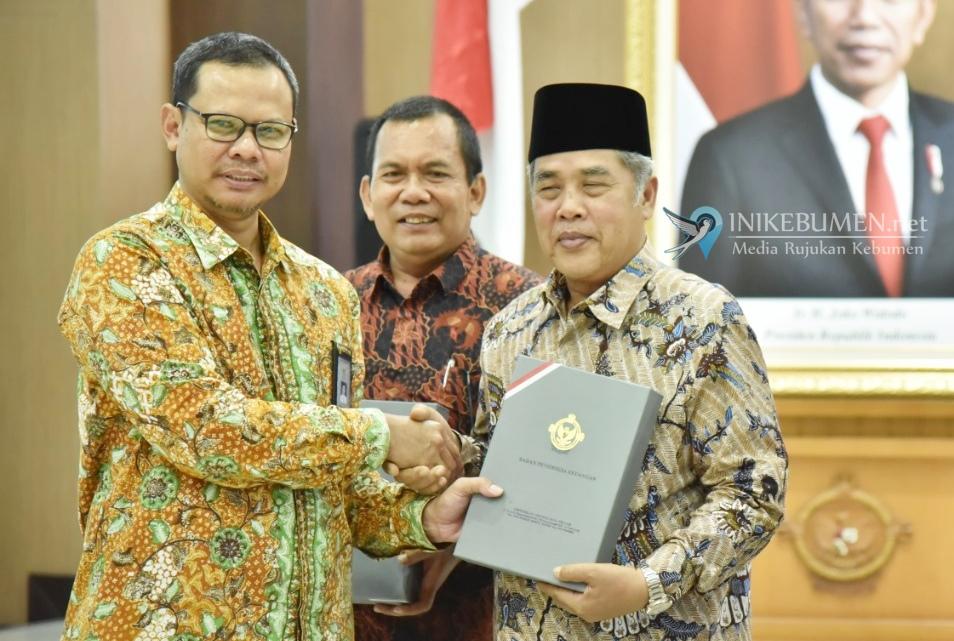 Bupati Kebumen Terima LHP Belanja Modal Infrastruktur dari BPK Jateng