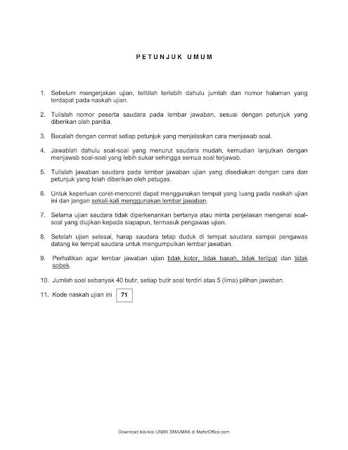 Latihan Soal Ujian Nasional Matematika SMK 2021