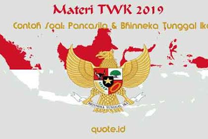 Contoh Soal CPNS 2019 Materi TWK: Soal Pancasila dan Bhinneka Tunggal Ika