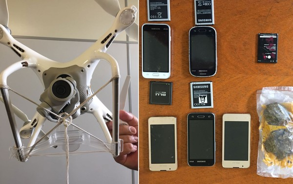 ASTÚCIA - Bandidos usam drone para levar celulares e droga para presídio