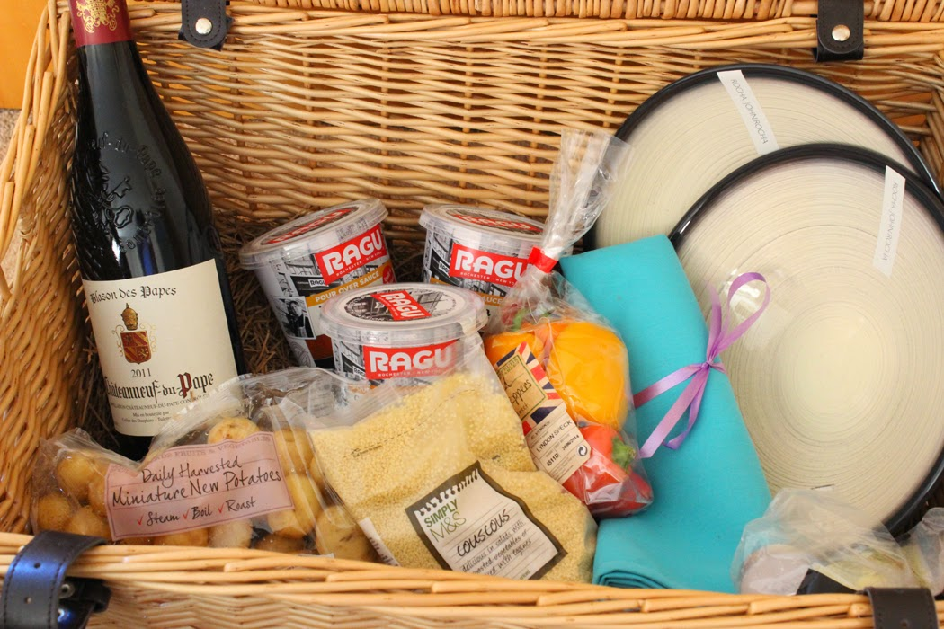 Hamper of goodies
