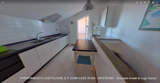Cucinotto di transito per la terrazza Castiglione-della-Pescaia, case rosa, appartamento trilocale