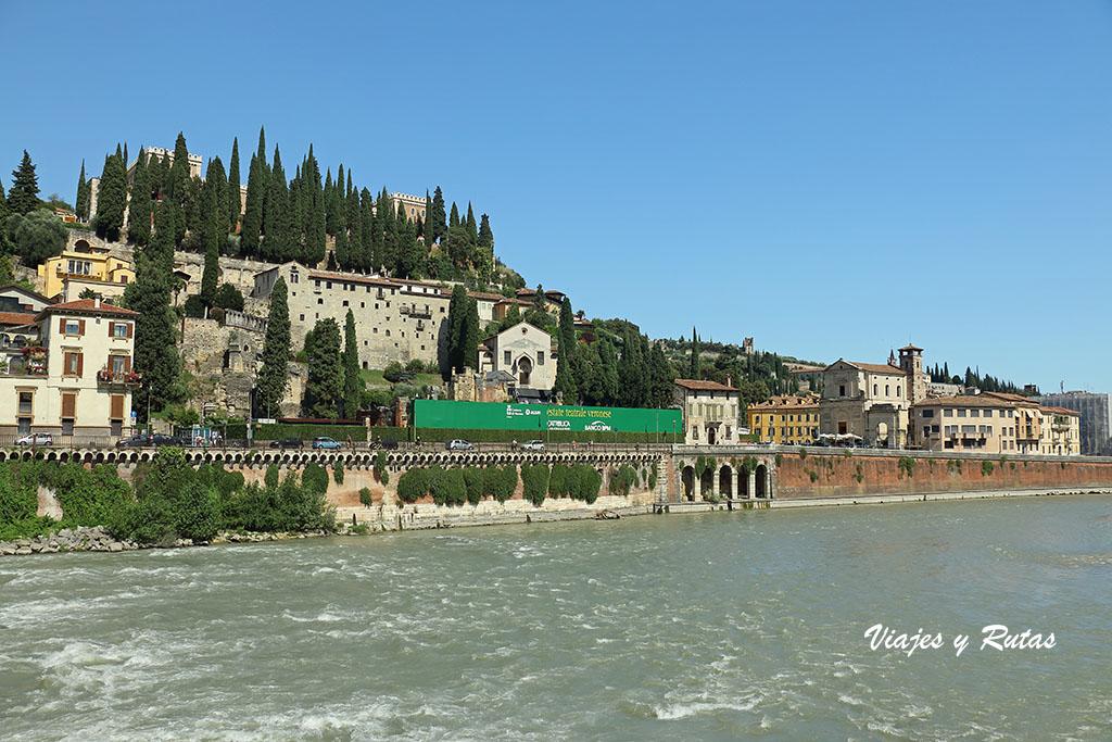 Vista del teatro romano de Verona