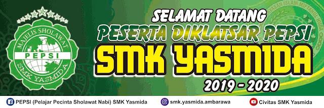 Desain Spanduk Selamat Datang PEPSI SMK Yasmida