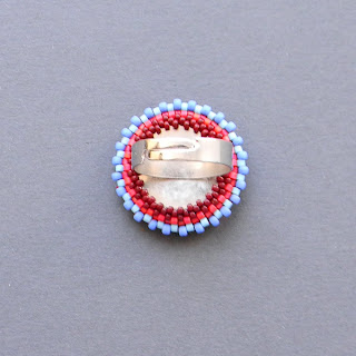 купить яркие украшения из бисера хиппи подарок девушке разноцветное кольцо