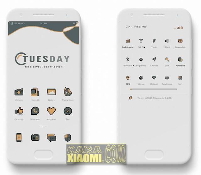 Hadir kembali tema xiaomi miui yang sudah support dengan MIUI V Tema MIUI Terbaru O2 TT mtz Full Material Desain Themes