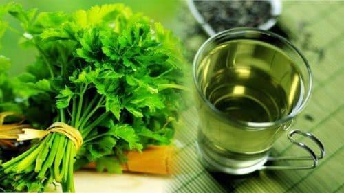 Chá de salsa para limpar os rins