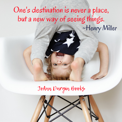 "Meme with Henry Miller Quote: ""One's destination is never a place, but a new way of seeing things."""