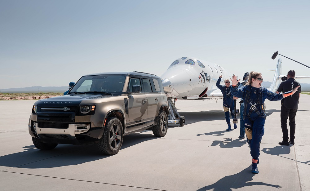Land Rover supports Virgin Galactic's first fully crewed space flight
