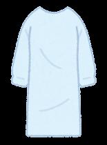 個人防護具のイラスト(女性・ガウン)