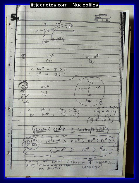 Nucleofiles Notes5