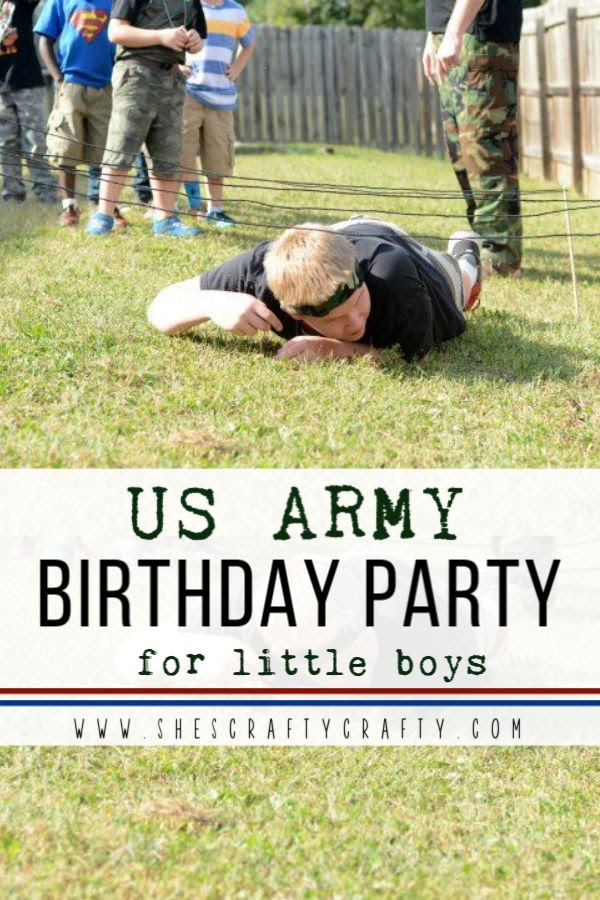 US Army themed birthday party for little boys