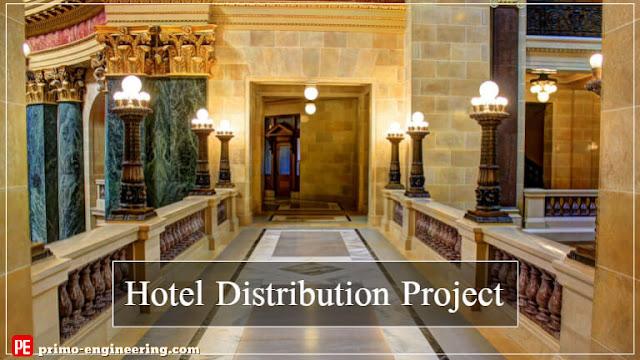 مشروع توزيع كهربي فندق كامل (مشروع تخرج) | Electrical Distribution Hotel Project