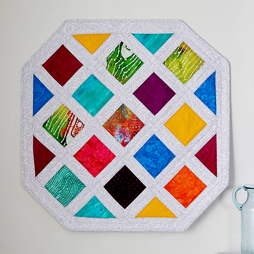 Modern Rainbow Quilt designed by Marie Duncan for Coats & Clark