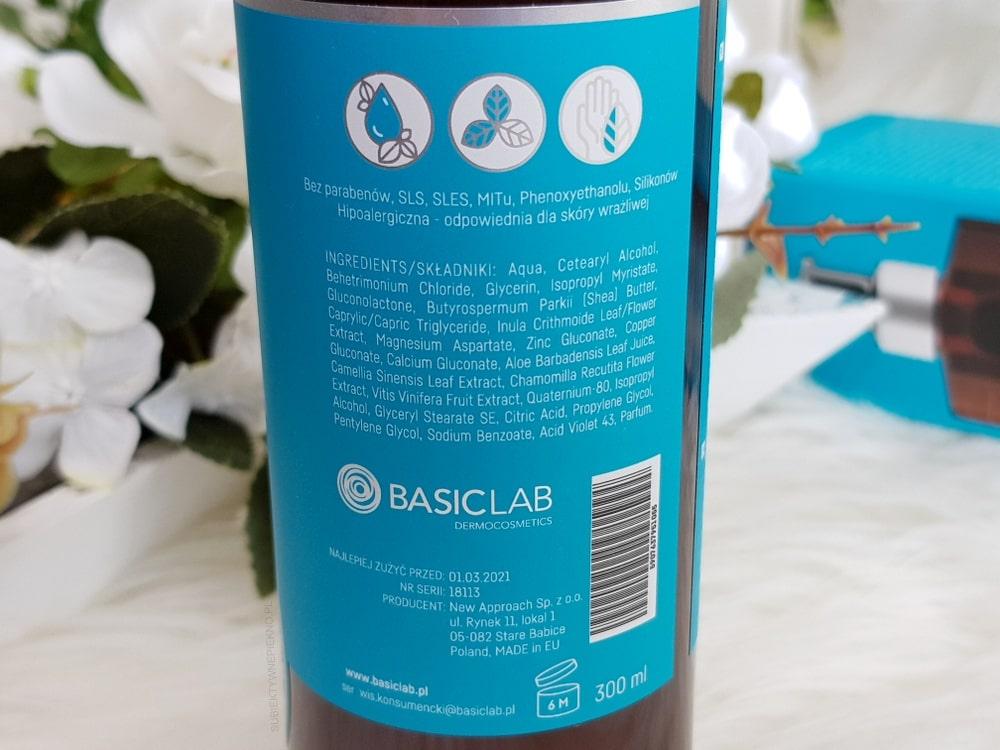 BASICLAB odżywka do włosów blond – skład