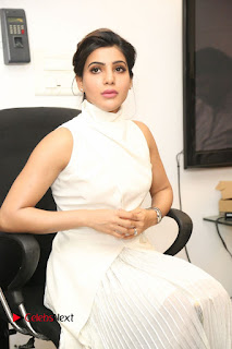 Actress Samantha Latest Picture Gallery in White Stylish Dress  0104