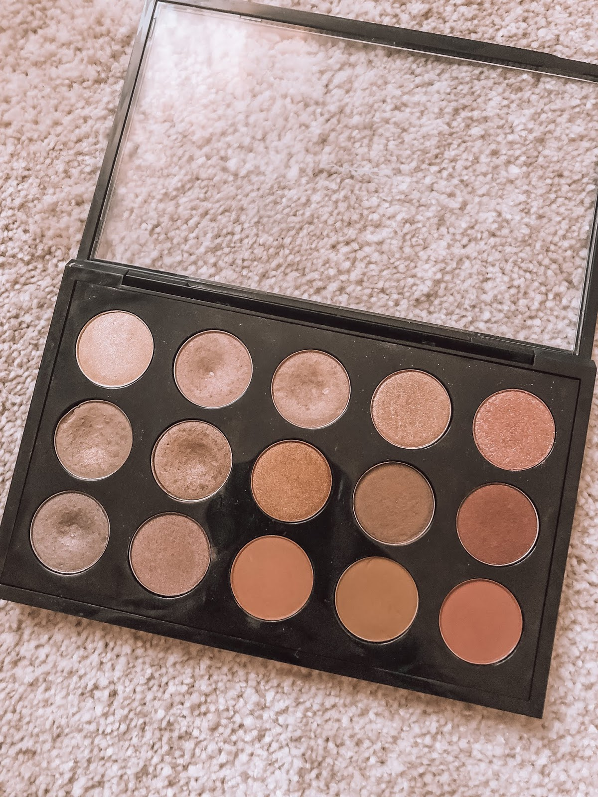 mac custom palette, warm brown pinks