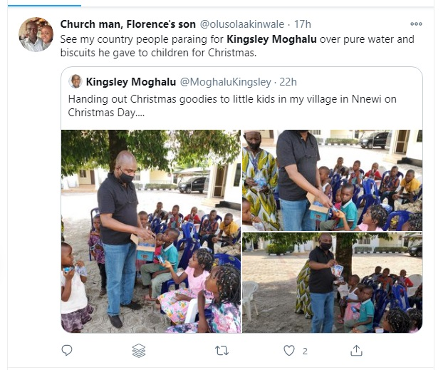 Mixed Reactions As Former Presidential Candidate Shares Biscuits, Capri Sonne In His Community