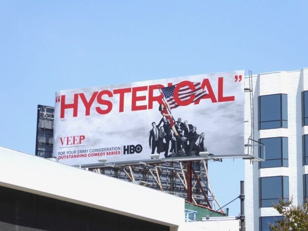 Veep Hysterical Emmy nominations billboard