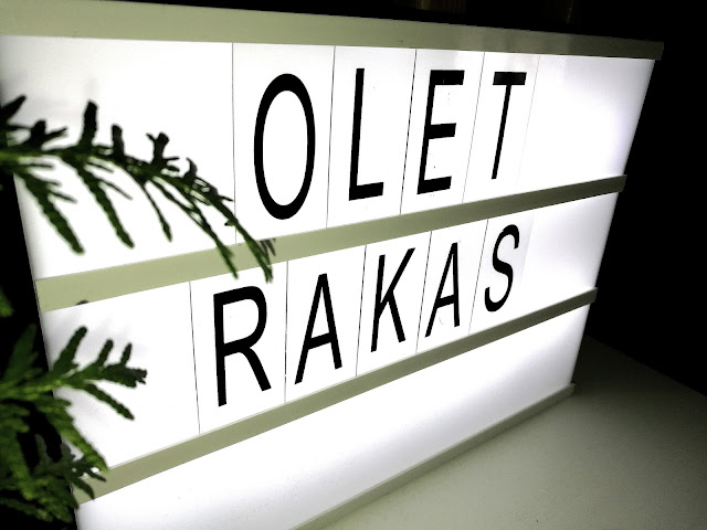 Saippuakuplia olohuoneessa- blogi. Diy Light Box Sign.