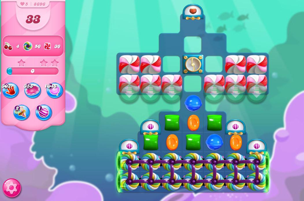 Candy Crush Saga level 8696