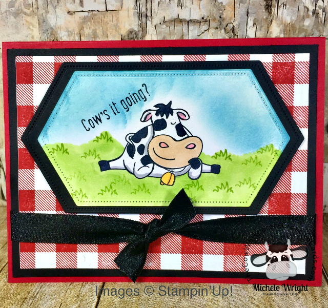 Card, Over the Moon, Buffalo Check, Stitched Nested Dies