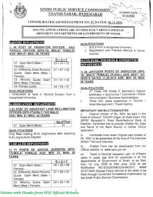SPSC Jobs 2020 - Latest Jobs in Sindh Public Service Commission Apply Online for SPSC Jobs November 2020 www.spsc.gov.pk Ad 07/2020