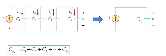 Capacitor paralel connection