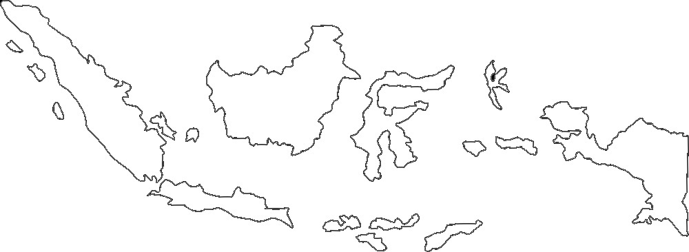 Peta Indonesia PNG Hitam Putih