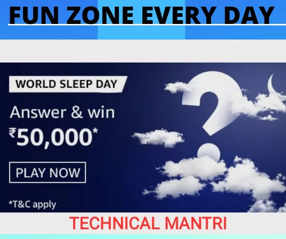 What's the slogan for the World Sleep Day 2021? Amazon Quiz Answer