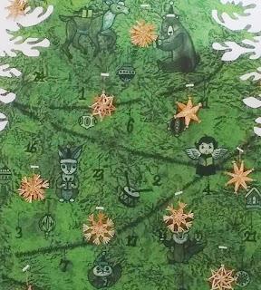 クリスマス 手ぬぐいタペストリー