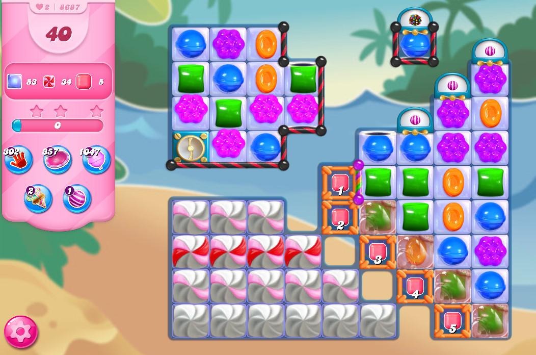 Candy Crush Saga level 8687