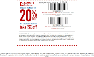 Famous Footwear coupons for april 2017