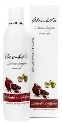 shampoo-doccia pistacchio e melograno Aloe-beta con Aloe Arborescens