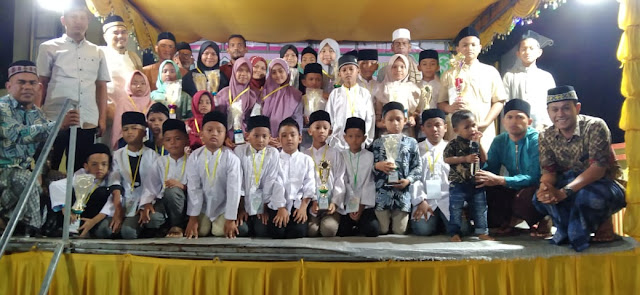 MTQ Ke III Tingkat Desa Alue Gampong Resmi Ditutup, Fauzan Azima Juara Umum