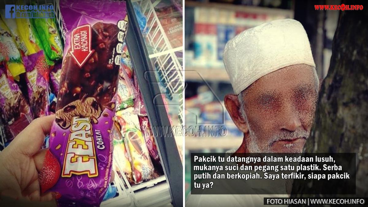 Belanja Seorang Pakcik Tua Aiskrim, Selang 2 Hari Tak Sangka Ini Yang Terjadi.