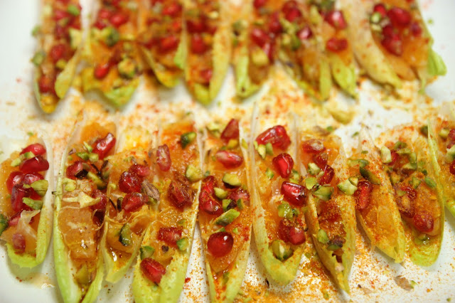 Belgian Endive filled with Tunisian Salad Organic Gluten-free Appetiser Recipe
