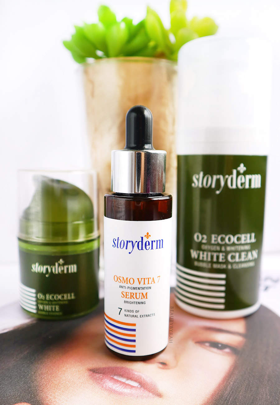Storyderm O2 Ecocell White Bubble Mask and Essene and Oslo Vita 7 review