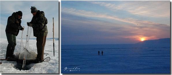 Photos de Bernard Grua, lac baikal dans recouvert de glace