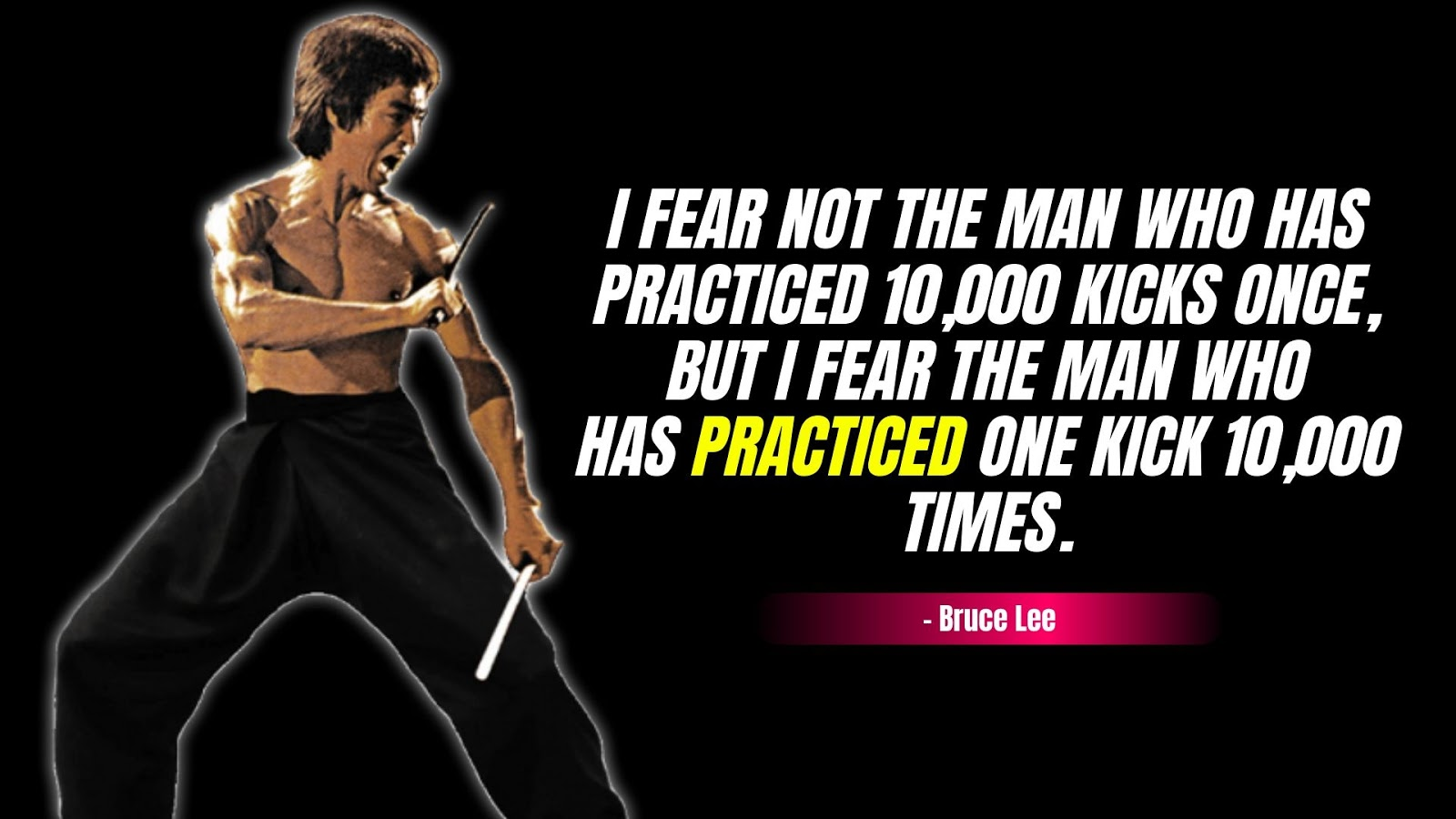 Bruce Lee Quotes about Martial Arts