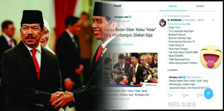 Kepala Badan Siber Dilantik, #HoaxMembangun Trending Topic, Cuwitan Netizen Ini Viral Banget! Isinya...