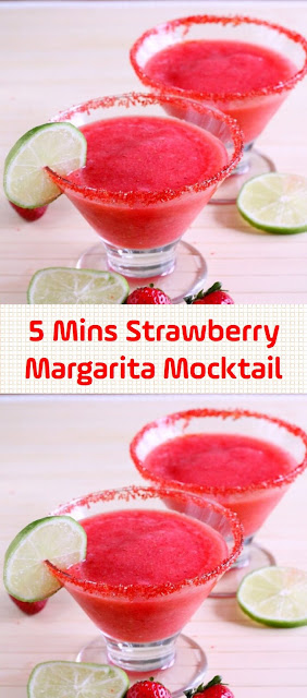 5 Mins Strawberry Margarita Mocktail