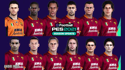 PES 2021 Classic FacePack AS Roma by Andri Mod