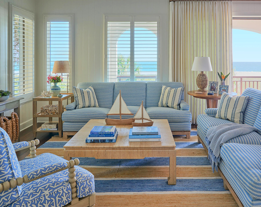 Beach House Anna Maria Island Florida Blue Sandy Beige Interior Design