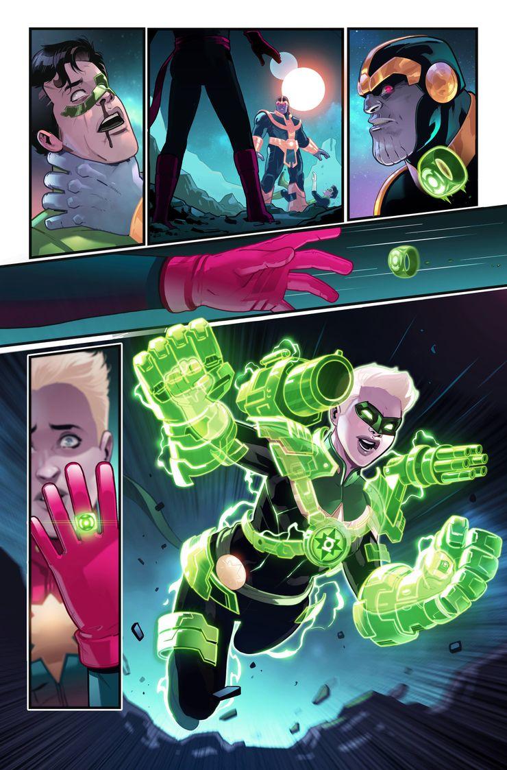 Capitana Marvel se convierte en Linterna Verde en el cruce de DC/Marvel