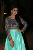 Nikki Galrani in Green Skirt  Top at Marakathamani music launch ~  Exclusive (9).JPG
