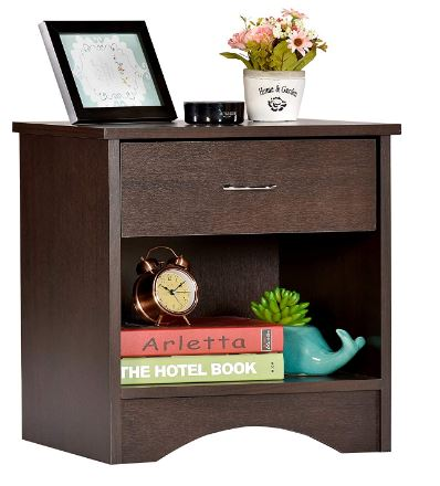 DeckUp Bei Side Table/End Table with Storage and Drawer