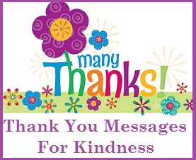 thank you messages kindness